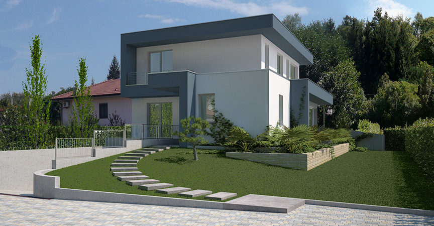 Progettazione Casa In Legno : Natura e stile americano per la nuova villa in legno di varese