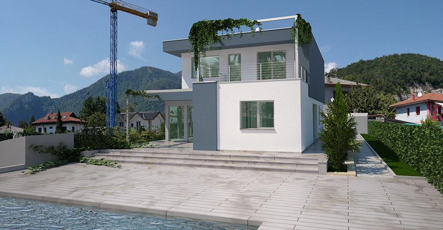 Natura e stile americano per la nuova villa in legno di for Case contemporanee