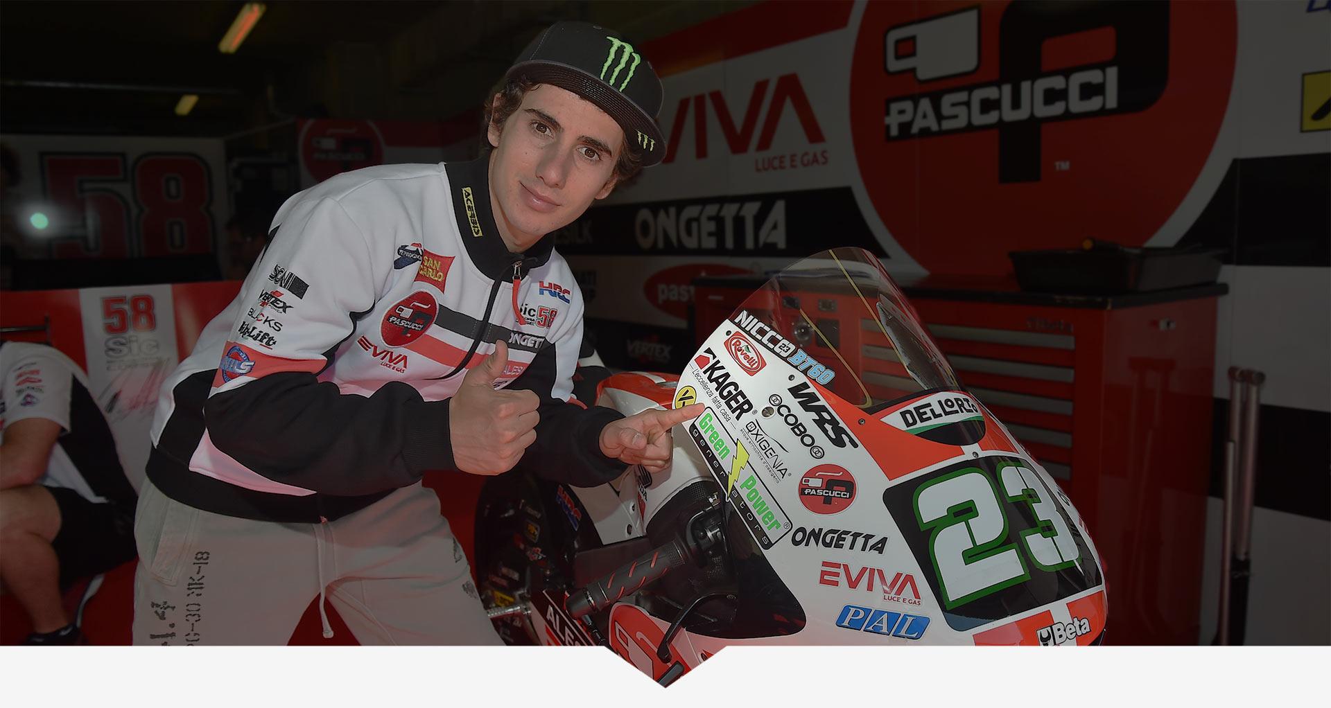 Kager sponsor Niccolo Antonelli MotoGP