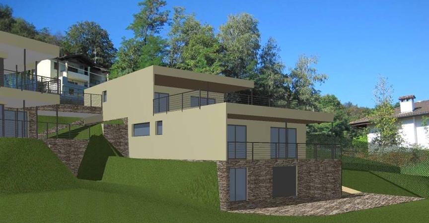 Nuova villa in legno prefabbricata Stresa