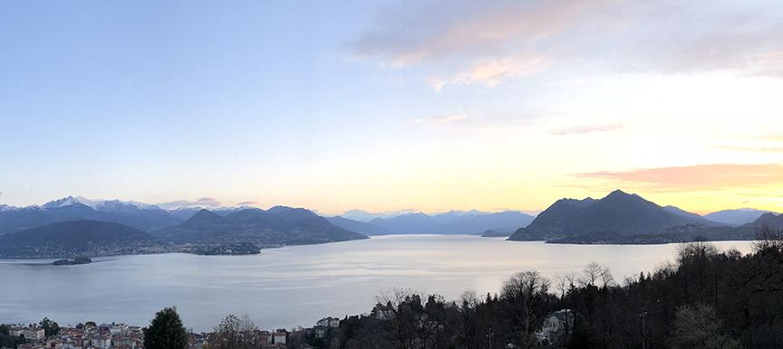 Villa in legno Kager vista Lago Maggiore