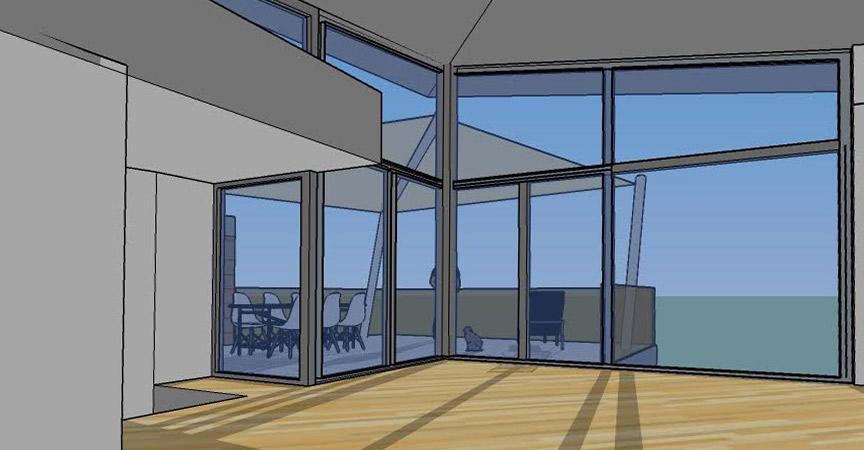 Nuova villa in legno prefabbricata Verona vetrata