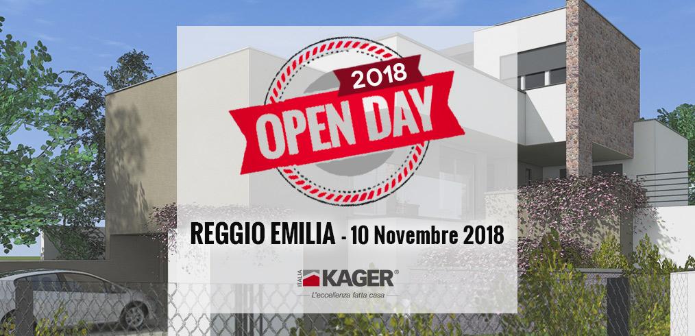 Il prossimo Open Day Kager di Reggio Emilia