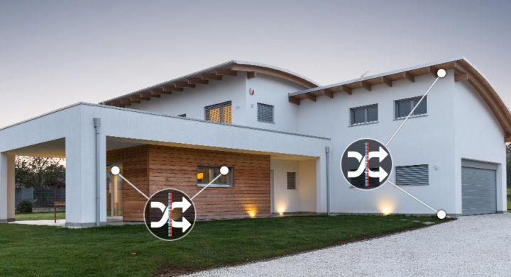 Bassi consumi riscaldamento case in legno Kager Italia