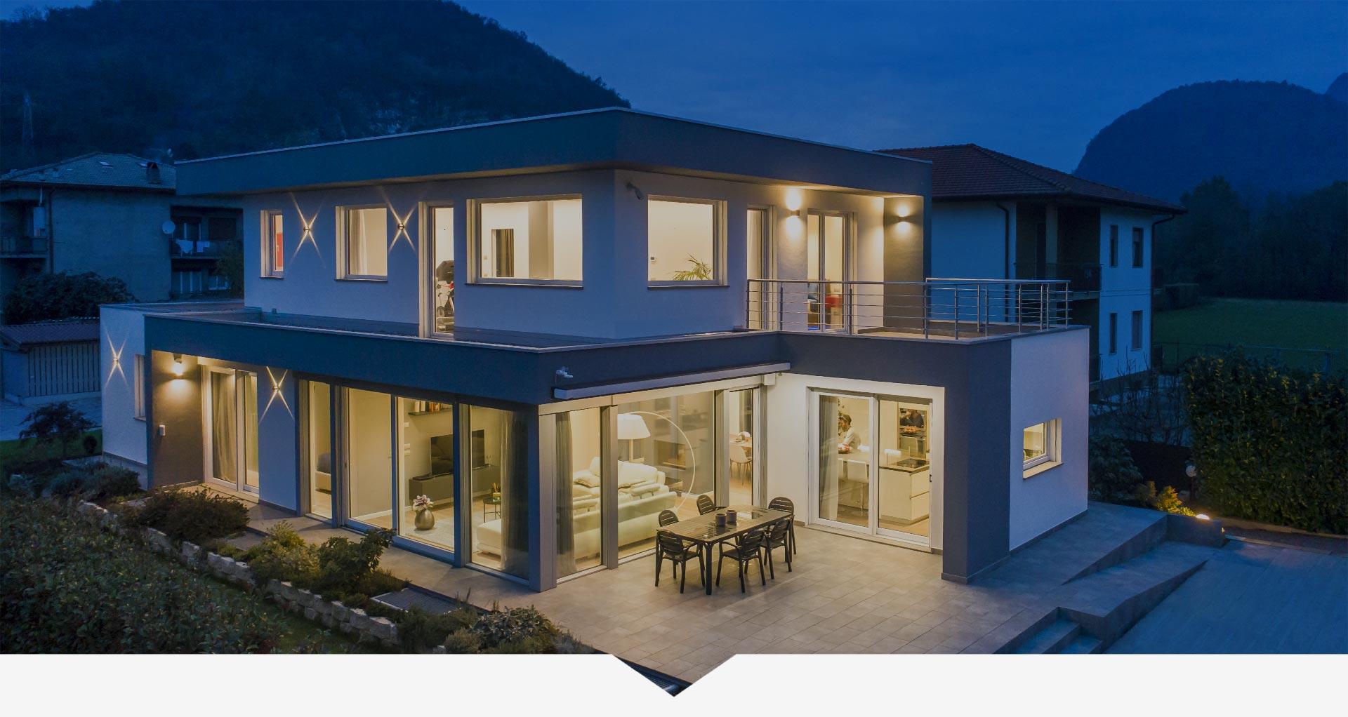 Villa in legno stile moderno Varese Kager Italia