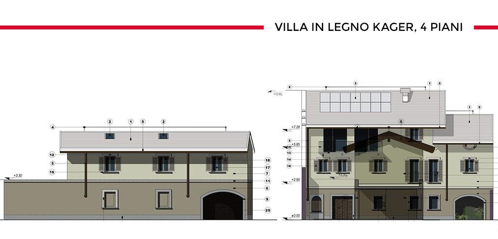 Ricostruzione casa in legno centro Novara Kager