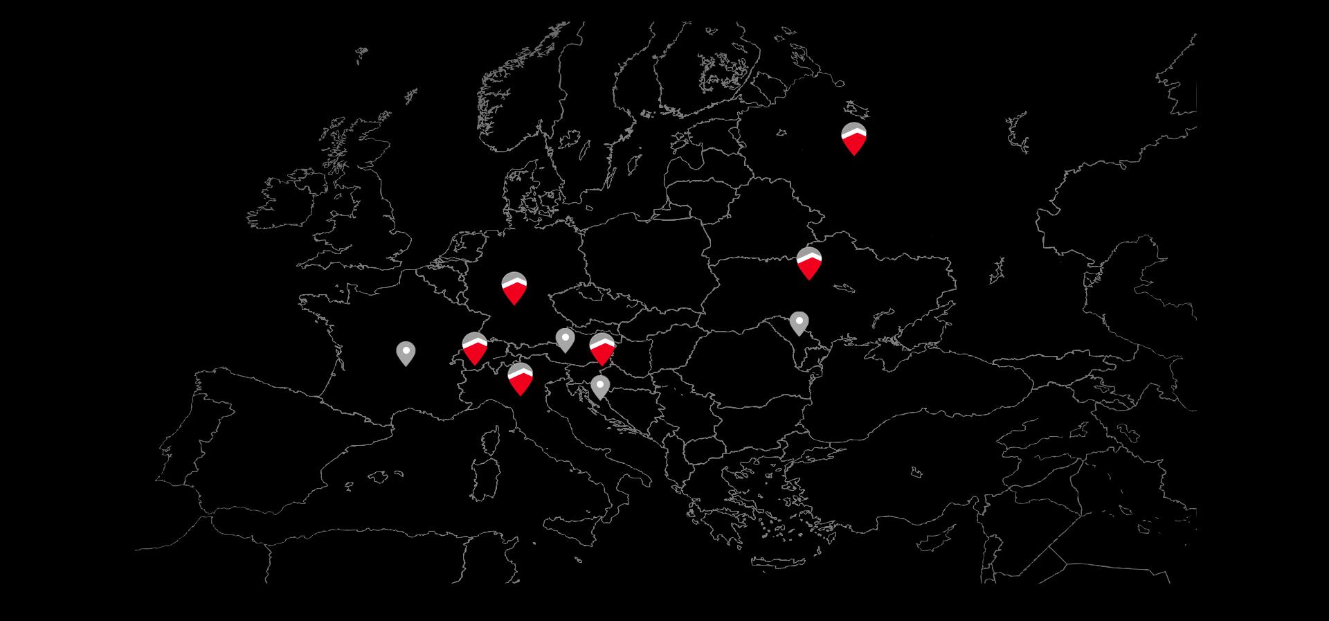Mappa paesi mondo Case in Legno Gruppo Kager