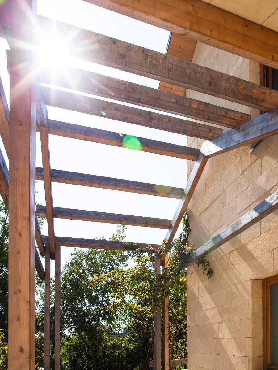 Bioedilizia case in legno plastic free Kager