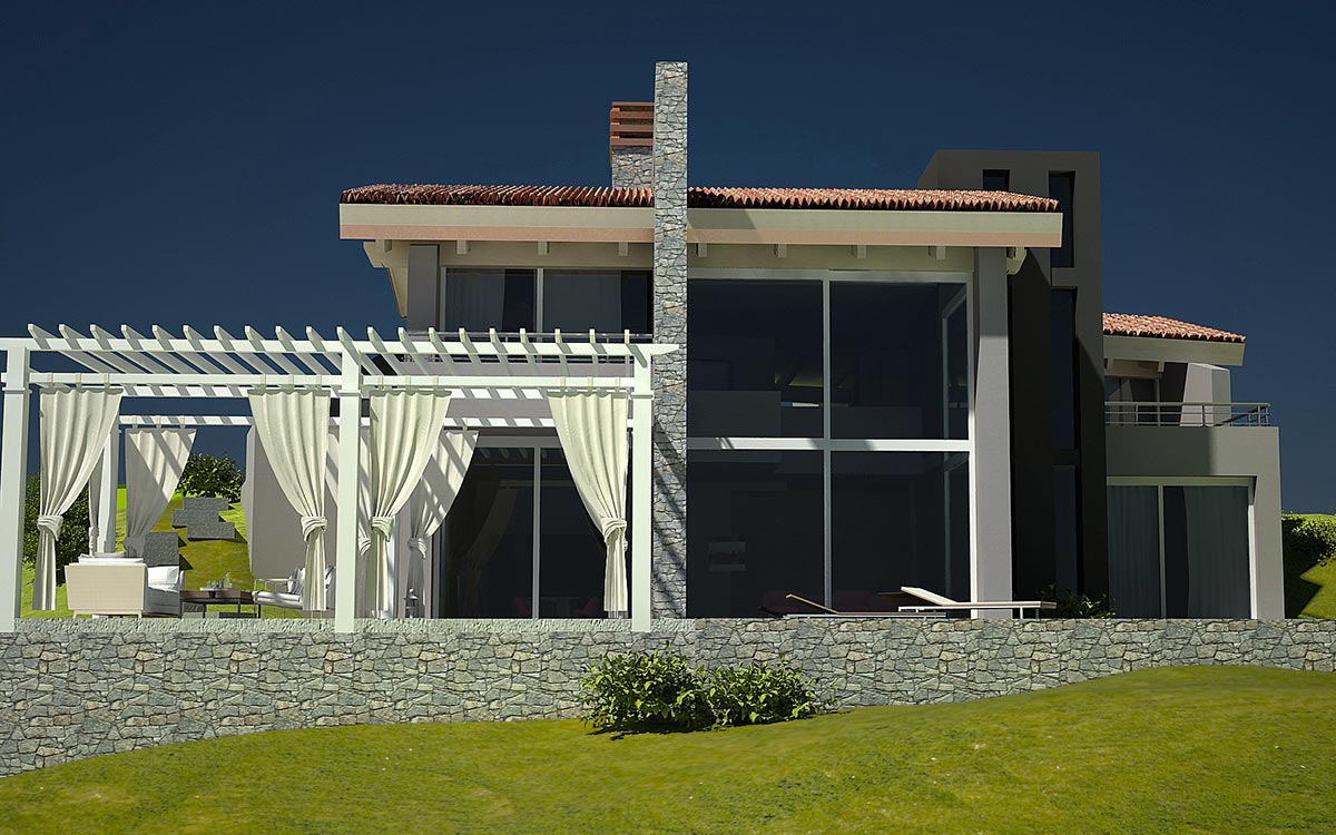 Casa in legno Cuneo Piemonte rendering