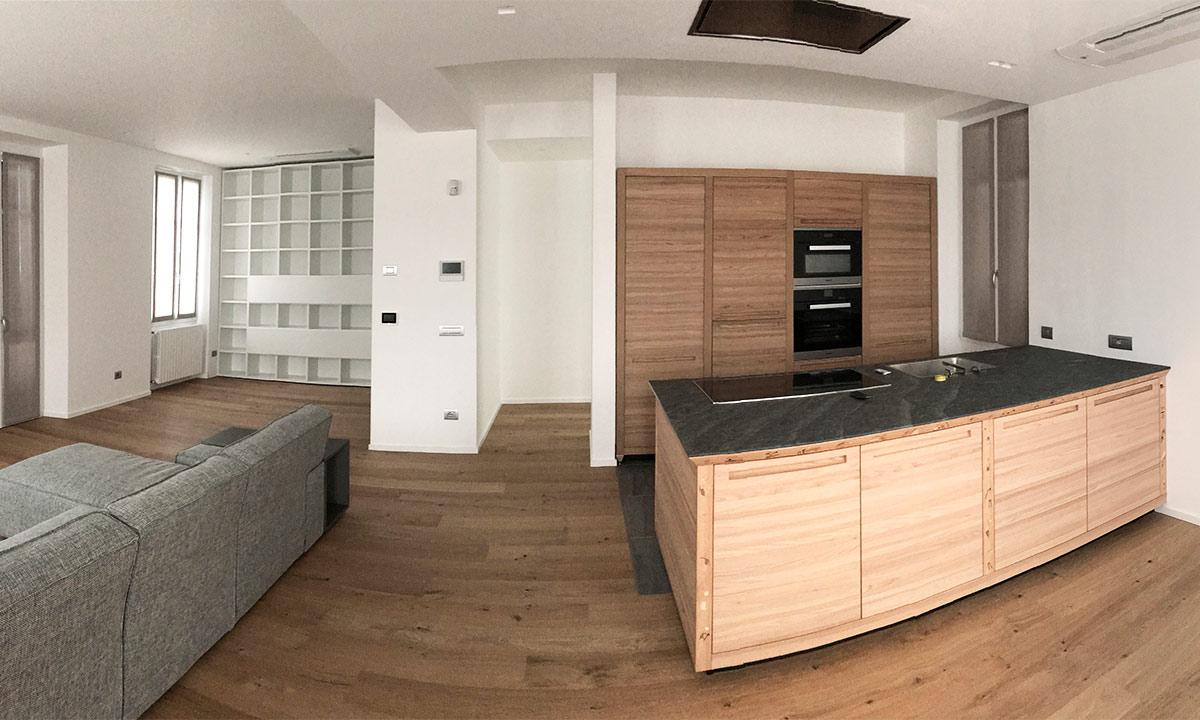 Progettazione arredamenti case in legno Franzini
